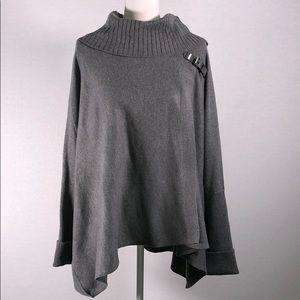 Calvin Klein Grey Sweater Poncho